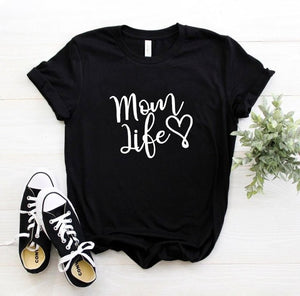Black Proud Mom Life with Heart T-Shirt-T-Shirts-XXS-TheWantsies.com
