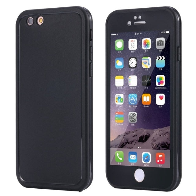 For iphone 6 6S Wantsies iPhone Waterproof Case for iPhone X XS Max XR 360 5 5S SE 6S 6 7 8 Plus - Hot Kisscase-Fitted Cases-Black-TheWantsies.com