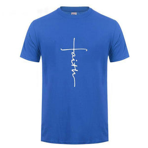 Blue3 Men's Faith Cross T-Shirt-T-Shirts-XS-TheWantsies.com