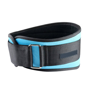 Blue WantsieFit Weight Lifting Support Belt - Adjustable Waist and Back Support Belt for Squats-Weight Lifting-M-TheWantsies.com