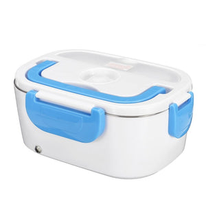Blue Heating Electric Lunch Box For Travelers, Truck Drivers, Car, Home or Work-Lunch Boxes-US Plastic Liner-TheWantsies.com