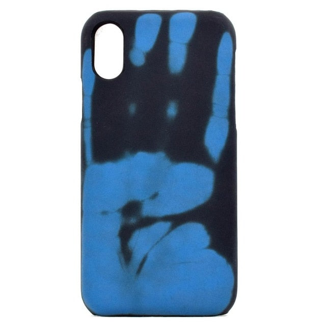 For iphone 6 Wantsies iPhone Thermal Heat Induction Fun Hot Kiss Case-Fitted Cases-Blue-TheWantsies.com
