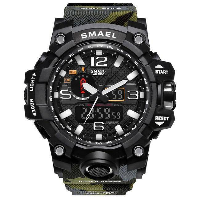 Camo Army Green Mens Military Diver Waterproof Sport Watch-Electronics-TheWantsies.com