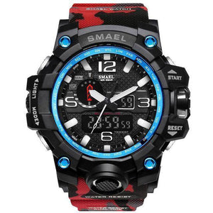 Camo Red Mens Military Diver Waterproof Sport Watch-Electronics-TheWantsies.com