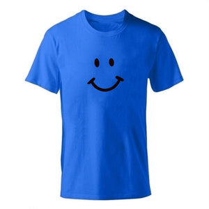 D-blue Men's Smiley Face Emoji T-shirt-T-Shirts-XS-TheWantsies.com
