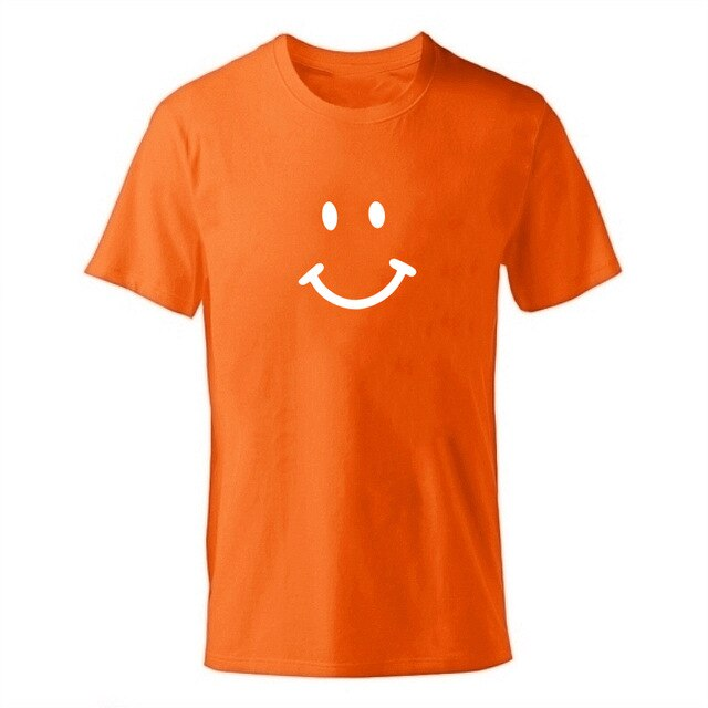 D-orange-b Men's Smiley Face Emoji T-shirt-T-Shirts-XS-TheWantsies.com