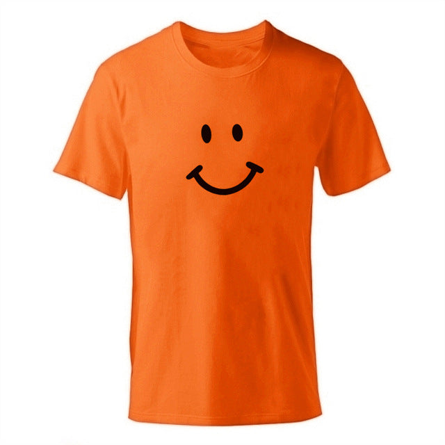 D-orange Men's Smiley Face Emoji T-shirt-T-Shirts-XS-TheWantsies.com