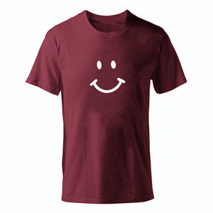 D-winered-b Men's Smiley Face Emoji T-shirt-T-Shirts-XS-TheWantsies.com