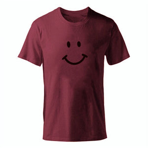 D-winered Men's Smiley Face Emoji T-shirt-T-Shirts-XS-TheWantsies.com