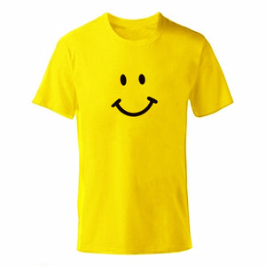 D-yellow Men's Smiley Face Emoji T-shirt-T-Shirts-XS-TheWantsies.com