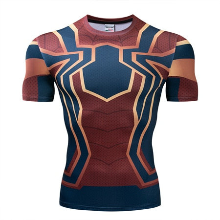 """Aquaman Tattoo Black"" WantsieFit Mens Superhero Compression Gym T-Shirt V2-T-Shirts-European size XXL-TheWantsies.com"