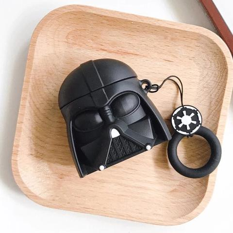 GJ0749 Star Wars Master Yoda Darth Vader Storm Trooper Shockproof Protective Case For AirPods & Carabiner-Protective Cases for Airpods-TheWantsies.com