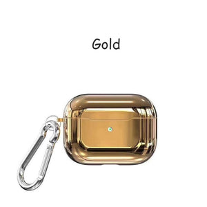 Gold With Buckle Designer Luxury Shiny Metal Electroplated Protective Case For AirPods Pro-Protective Cases for Airpods-TheWantsies.com