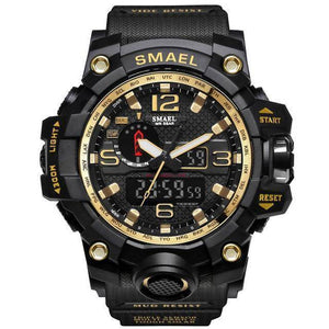 Gold Mens Military Diver Waterproof Sport Watch-Electronics-TheWantsies.com