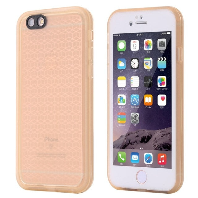 For iphone 6 6S Wantsies iPhone Waterproof Case for iPhone X XS Max XR 360 5 5S SE 6S 6 7 8 Plus - Hot Kisscase-Fitted Cases-Gold-TheWantsies.com