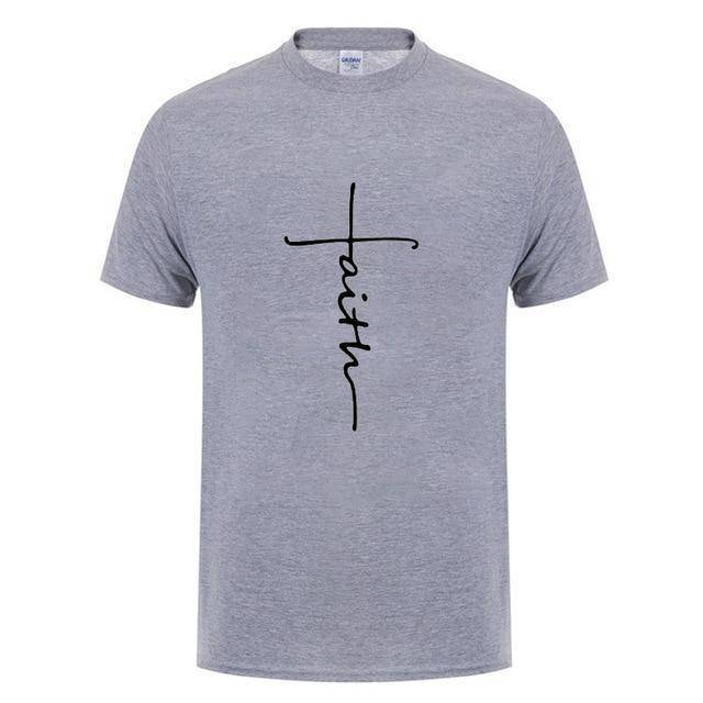 Gray5 Men's Faith Cross T-Shirt-T-Shirts-XS-TheWantsies.com