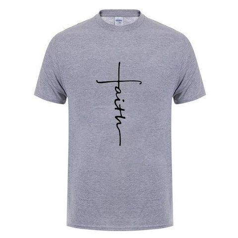 Image of Gray5 Men's Faith Cross T-Shirt-T-Shirts-XS-TheWantsies.com