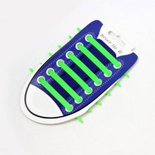Green No Tie Silicone Shoelaces - Easy Lace your Shoes-Shoelaces-TheWantsies.com
