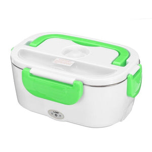 Green Heating Electric Lunch Box For Travelers, Truck Drivers, Car, Home or Work-Lunch Boxes-US Plastic Liner-TheWantsies.com