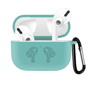 Mint Waterproof Silicone Shockproof Protective Case For AirPods Pro with Carabiner-Protective Cases for Airpods-TheWantsies.com