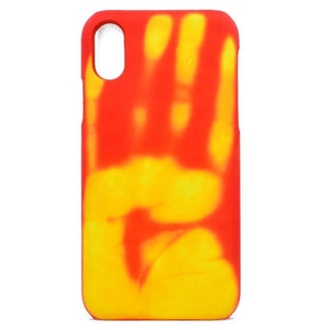 For iphone 6 Wantsies iPhone Thermal Heat Induction Fun Hot Kiss Case-Fitted Cases-Orange-TheWantsies.com