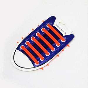 Orange No Tie Silicone Shoelaces - Easy Lace your Shoes-Shoelaces-TheWantsies.com