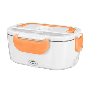 Orange Heating Electric Lunch Box For Travelers, Truck Drivers, Car, Home or Work-Lunch Boxes-US Plastic Liner-TheWantsies.com