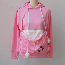 Pink Women's Pet Carrier Hoodie Sweatshirt with Puppy Pouch-Hoodies & Sweatshirts-S-TheWantsies.com