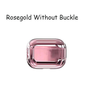 Rose Gold Designer Luxury Shiny Metal Electroplated Protective Case For AirPods Pro-Protective Cases for Airpods-TheWantsies.com