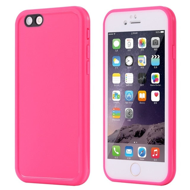 For iphone 6 6S Wantsies iPhone Waterproof Case for iPhone X XS Max XR 360 5 5S SE 6S 6 7 8 Plus - Hot Kisscase-Fitted Cases-Rose-TheWantsies.com