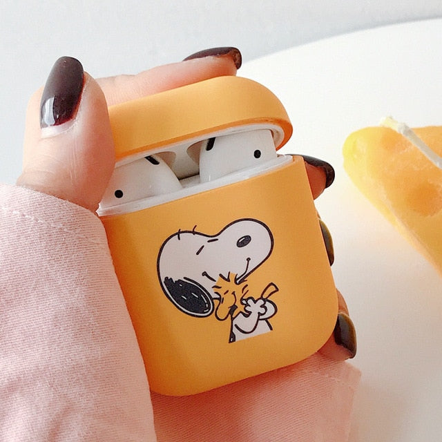 Style 10 Snoopy and Woodstock Shockproof Protective Hard Case Shell For AirPods 1 & 2-Protective Cases for Airpods-TheWantsies.com