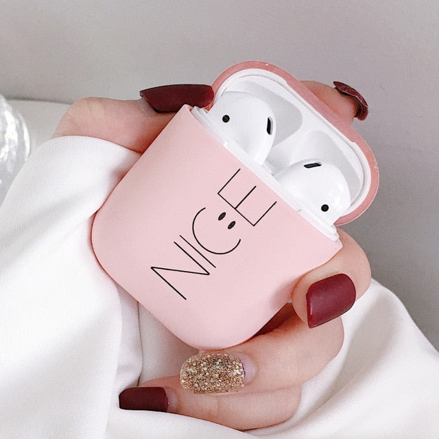 Style 15 Pink or Black Nice Shockproof Protective Hard Case Shell For AirPods 1 & 2-Protective Cases for Airpods-TheWantsies.com