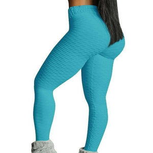 Style 3 Blue WantsieFit Anti Cellulite Ruched or Pocket Style High Waist Push Up Gym Legging Yoga Pants-Leggings-S-TheWantsies.com
