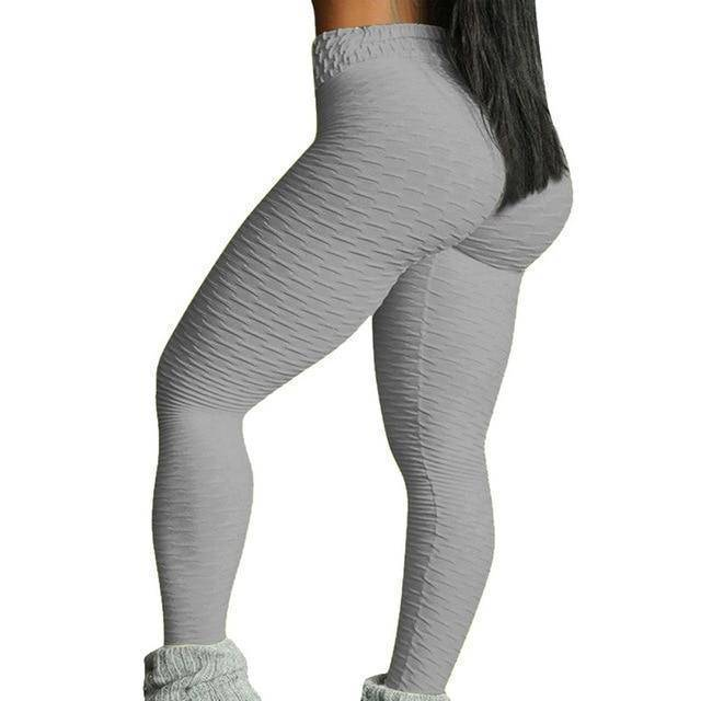 Style 3 Gray WantsieFit Anti Cellulite Ruched or Pocket Style High Waist Push Up Gym Legging Yoga Pants-Leggings-S-TheWantsies.com