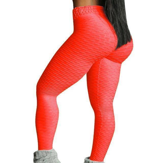 Style 3 Orange WantsieFit Anti Cellulite Ruched or Pocket Style High Waist Push Up Gym Legging Yoga Pants-Leggings-S-TheWantsies.com