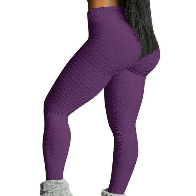 Style 3 Purple WantsieFit Anti Cellulite Ruched or Pocket Style High Waist Push Up Gym Legging Yoga Pants-Leggings-S-TheWantsies.com