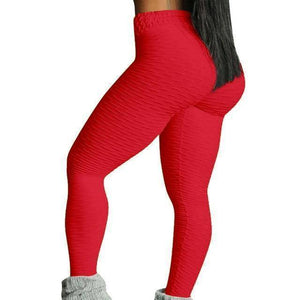 Style 3 Red WantsieFit Anti Cellulite Ruched or Pocket Style High Waist Push Up Gym Legging Yoga Pants-Leggings-S-TheWantsies.com