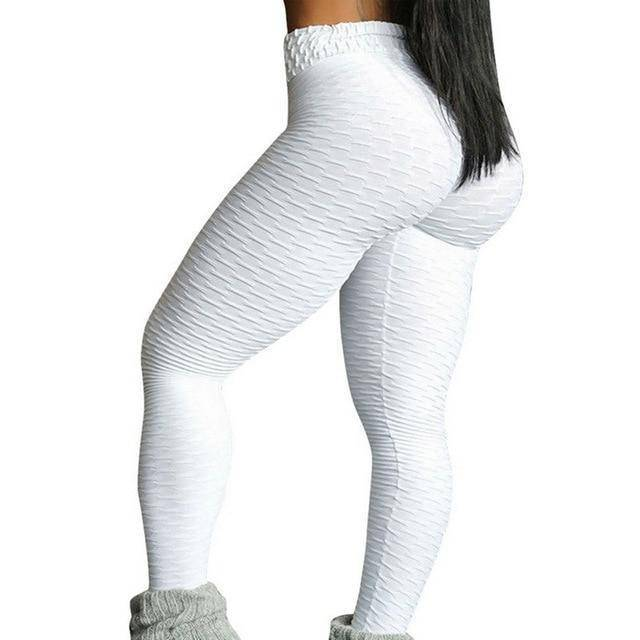 Style 3 White WantsieFit Anti Cellulite Ruched or Pocket Style High Waist Push Up Gym Legging Yoga Pants-Leggings-S-TheWantsies.com