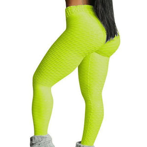 Style 3 Yellow WantsieFit Anti Cellulite Ruched or Pocket Style High Waist Push Up Gym Legging Yoga Pants-Leggings-S-TheWantsies.com