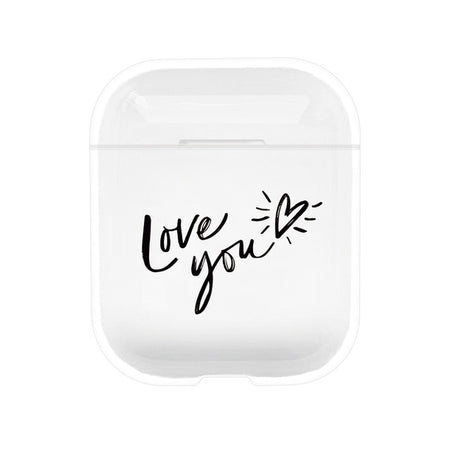 Style 3 Heart Love You Shockproof Protective Hard Case Shell For AirPods 1 & 2-Protective Cases for Airpods-TheWantsies.com
