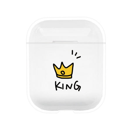 Style 4 King and Queen Shockproof Protective Hard Case Shell For AirPods 1 & 2-Protective Cases for Airpods-TheWantsies.com