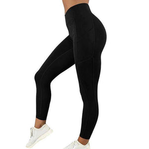 Style 5 Black WantsieFit Anti Cellulite Ruched or Pocket Style High Waist Push Up Gym Legging Yoga Pants-Leggings-S-TheWantsies.com