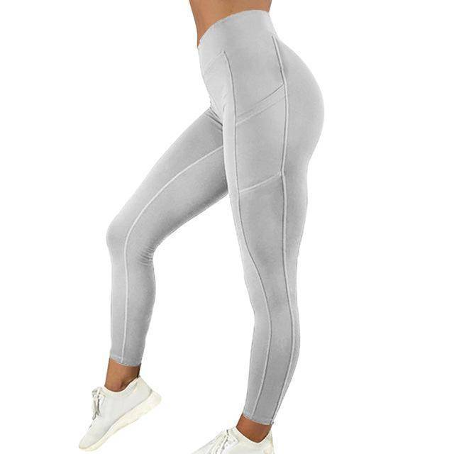 Style 5 Gray WantsieFit Anti Cellulite Ruched or Pocket Style High Waist Push Up Gym Legging Yoga Pants-Leggings-S-TheWantsies.com