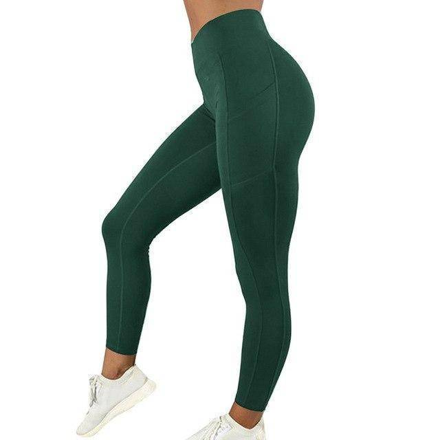 Style 5 Green WantsieFit Anti Cellulite Ruched or Pocket Style High Waist Push Up Gym Legging Yoga Pants-Leggings-S-TheWantsies.com