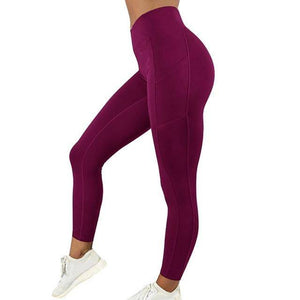 Style 5 Red WantsieFit Anti Cellulite Ruched or Pocket Style High Waist Push Up Gym Legging Yoga Pants-Leggings-S-TheWantsies.com