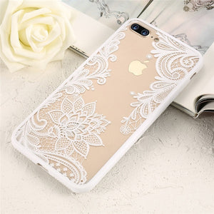 For iPhone XS Max Wantsies Vintage Lace Flower Case For iPhone XR 5S 5 Se 6 7 8 Plus 11 Pro 11 Pro max XS Max XR X - Hot Kisscase-Fitted Cases-White-TheWantsies.com