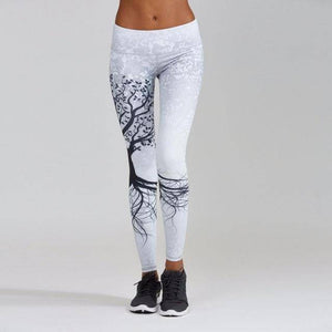 White WantsieFit Tree of Life Workout Yoga Leggings-Active Wear-S-TheWantsies.com