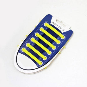 Yellow No Tie Silicone Shoelaces - Easy Lace your Shoes-Shoelaces-TheWantsies.com