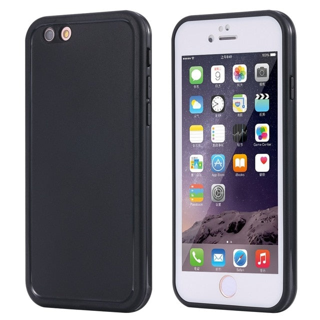 For iphone 6 6S Wantsies iPhone Waterproof Case for iPhone X XS Max XR 360 5 5S SE 6S 6 7 8 Plus - Hot Kisscase-Fitted Cases-black and white-TheWantsies.com