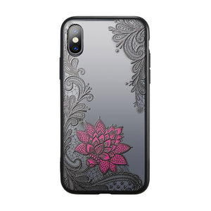 For iPhone XS Max Wantsies Vintage Lace Flower Case For iPhone XR 5S 5 Se 6 7 8 Plus 11 Pro 11 Pro max XS Max XR X - Hot Kisscase-Fitted Cases-black rose-TheWantsies.com